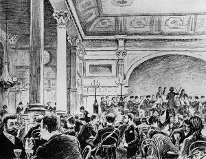 Helsingin kaupunginorkesteri soittaa Seurahuoneella 1888.