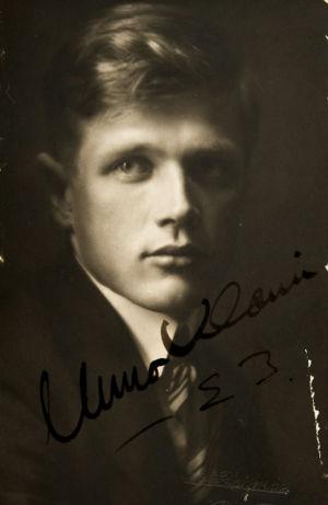 Säveltäjä Uuno Klami 1923.