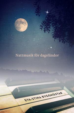 """Pärmen till Eva-St9ina Byggmästars diktbok """"Nattmusik för dagsländor""""."""