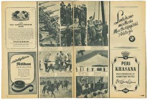 Mainoksia Signaali-lehdestä. Mukana muun muassa BMW-mainos.