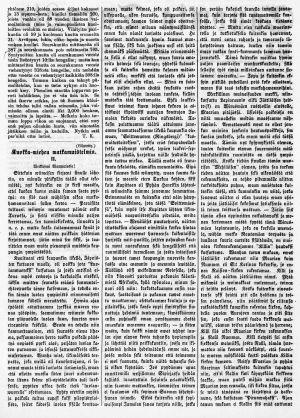 Lehtiartikkeli erittäin vanhasta sanomalehdestä.
