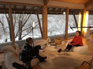 Keramikern Karin Widnäs i sitt hem i Fiskars