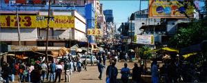 Näkymä Paraguayn Ciudad del Esten kaupungissa
