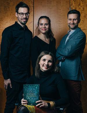 Författarna Anssi Jokiranta, Pekka Juntti, Anna Ruohonen och Jenni Räinä.