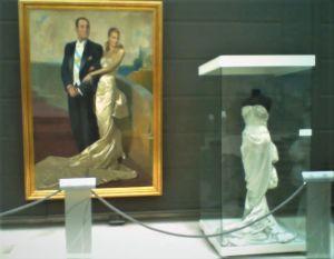 Klänning på Eva Perónmuseet i Buenos Aires, Argentina.
