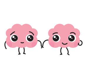 aivohahmo pitää ystävää kädestä kiinni