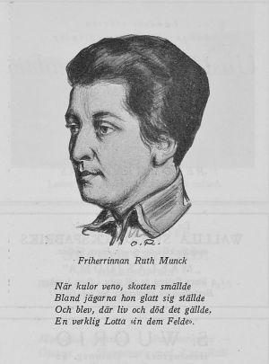 Teckning av Ruth Munck i tidskriften Jul-Lotta år 1927.