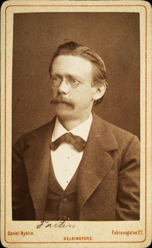 Richard Faltin vanhempi Helsingissä noin 1878.