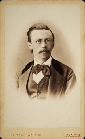 Richard Faltin vanhempi Danzigissa noin 1860.