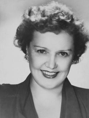 Mary Hannikainen noin 1950-luvun alussa.