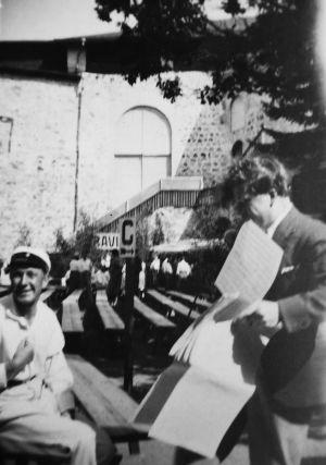 Arvo Hannikainen Savonlinnan Oopperajuhlilla 1930.