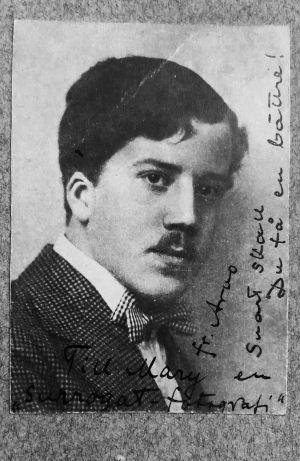 Viulutaiteilija Arvo Hannikainen 1920-luvun alussa.