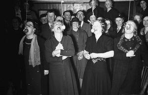 Skottårs fest i Llanbrynmair i Storbritanninen år 1940.