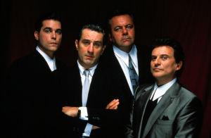 Ray Liotta, Robert De Niro, Paul Sorvino ja Joe Pesci elokuvassa Mafiaveljet, 1990