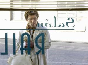 Tuija Ernamo Railin kampaamon ikkunan takana (2003).