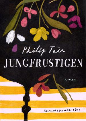 """Pärmen till Philip Teirs roman """"Jungfrustigen""""."""