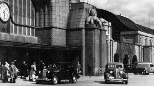 Viipurin rautatieasema 1930-luvulla.