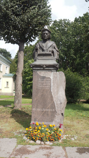 Mikael Agricolan muistomerkki Viipurissa.