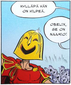 Ruutu Asterix-sarjakuvasta.