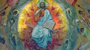 Mosaiikki-ikoni Pietarin Verikirkossa