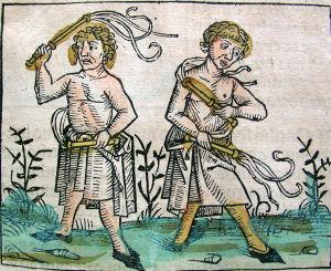 Kaksi keskiaikaista itsensäruoskijaa
