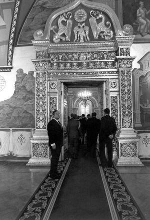 Fasettisalin ovella Kremlissä 1983.