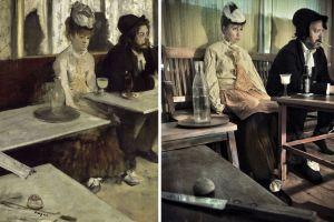 Toisinto Degas'n teoksesta Absintti.