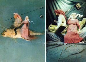 Toisinto Hieronymus Boschin teoksen yksityiskohdasta.