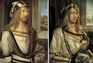Toisinto Dürerin omakuvasta.