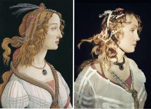 Toisinto Botticellin teoksesta Nuoren naisen muotokuva.
