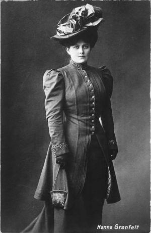 Laulajatar Hanna Granfelt 1900-luvun alussa.