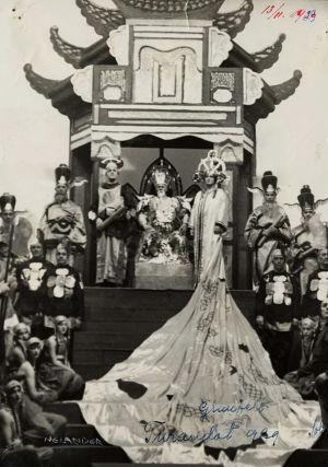 Hanna Granfelt Suomalaisen Oopperan Turandotissa 1929.
