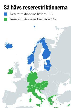 En karta över Europa