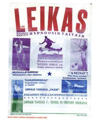 Affisch för Aimo Leikas år 1968.