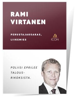 Rami Virtanen: poliisi epäilee talousrikoksista.