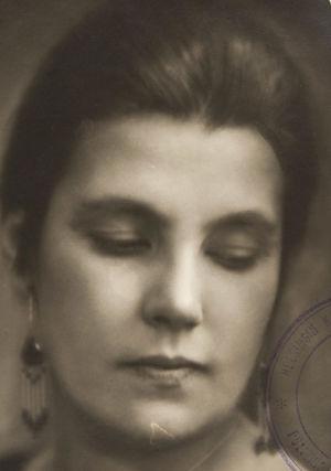 Oopperalaulaja Lahja Linko 1920-luvulla.