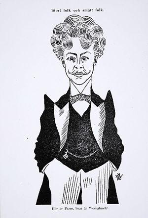 Uno Zeipelin pilakuva Edvard Fazerista vuonna 1903.