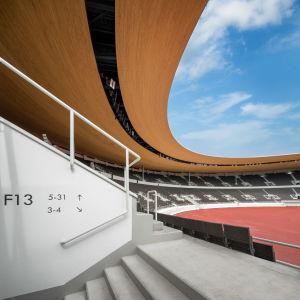 Olympiastadioni on uusittu kauttaaltaan.