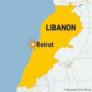 Libanons karta.