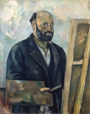 Självporträtt av Paul Cézanne ca 1890.