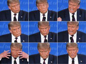 Donald Trump under tv-debatten 29.9.2020