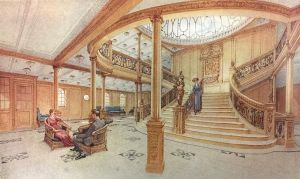 Trappan ombord på RMS Titanic.