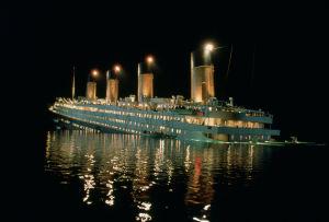 Titanic sjunker.