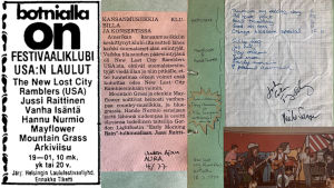 Materiaalia Helsingin laulufestivaalien klubi-illasta Bottalla 1977.