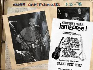 Aineistoa Countrykitarajamboreesta Elmupoli-klubilla Helsingissä 1978,