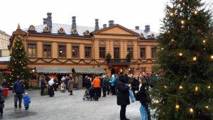Arkistokuva Vanhan Suurtorin Joulumarkkinoilta 2016.