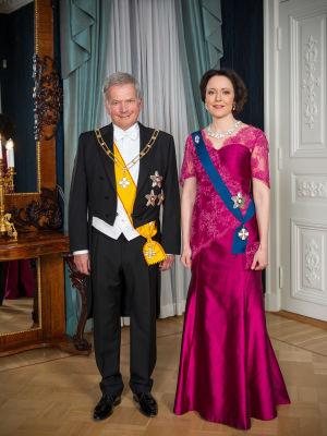 Tasavallan presidentti Sauli Niinistö ja hänen puolisonsa rouva Jenni Haukio.