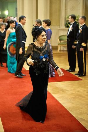 Marimekon entinen omistaja Kirsti Paakkanen Linnan juhlissa vuonna 2012.