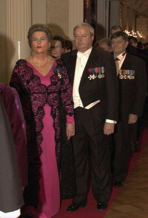 Riitta Uosukainen itsenäisyyspäivän vastaanotolla 1996.