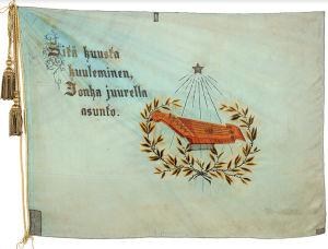 Ylioppilaskunnan Laulajien lippu 1883.